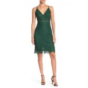 ASTR the Label V Neck Dress hunter green 809